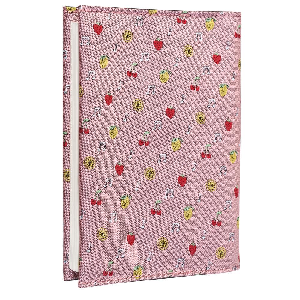 クラバットブックカバーEX(全12色) フルーツピンク