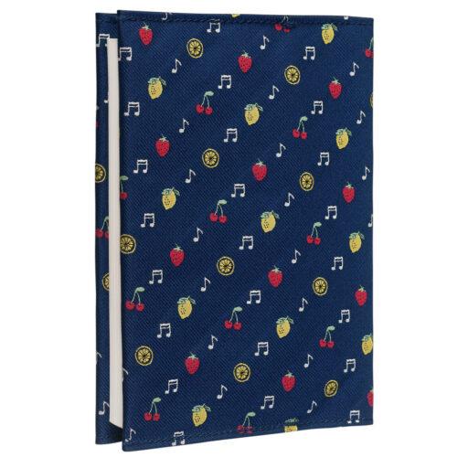 クラバットブックカバーEX(全12色) フルーツネイビー