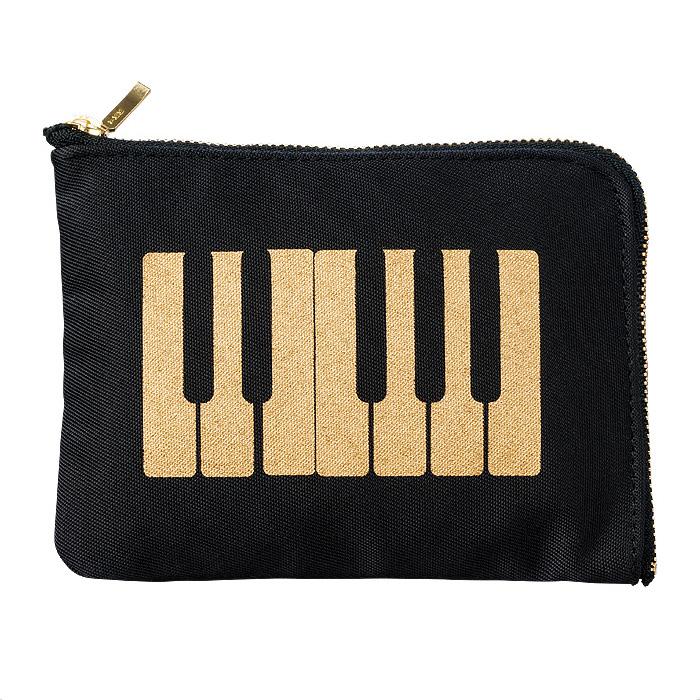 ティッシュケースポーチ(全3種) 鍵盤/ブラックゴールド