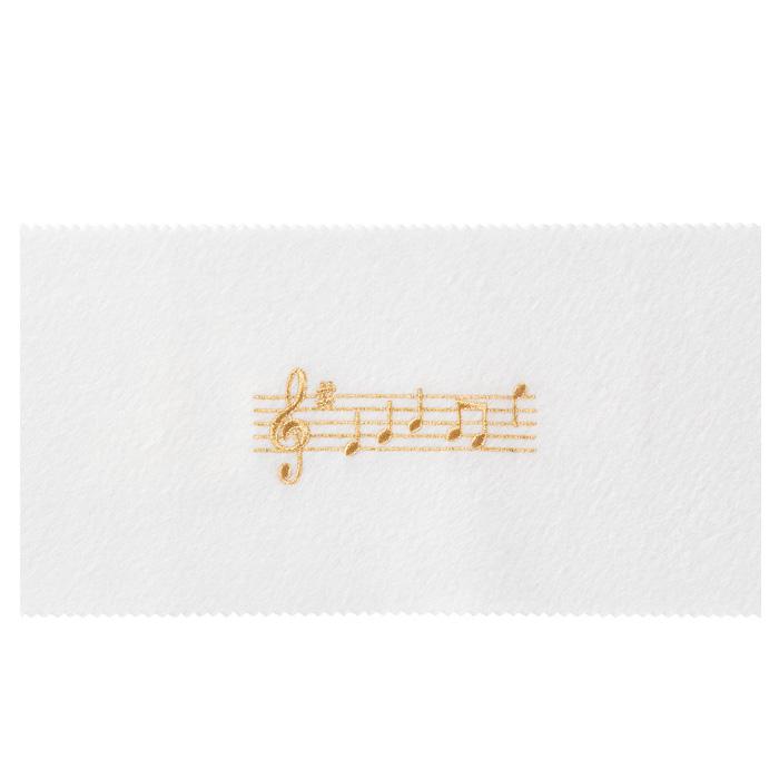 ピアノキーカバー(全4種) 音符 / ホワイトゴールド