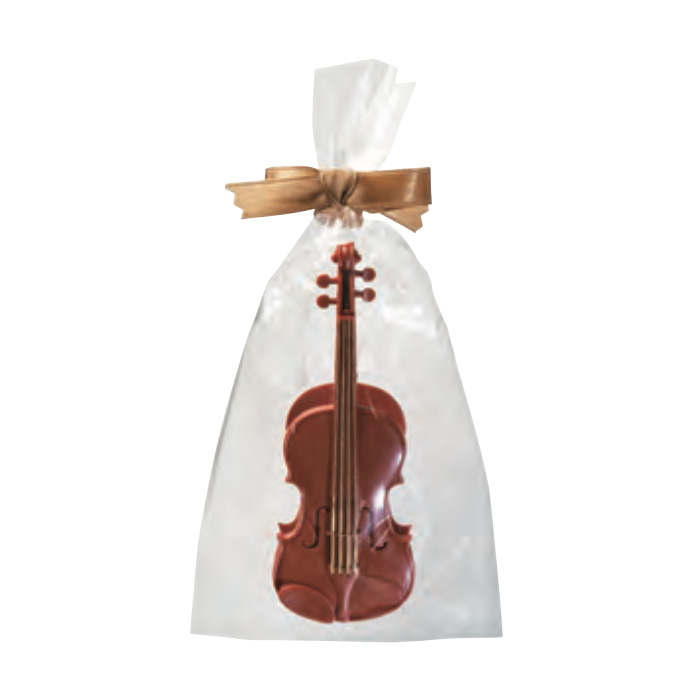リボン バイオリンクリップ(ボールペン付き)(全2種) ブラウン