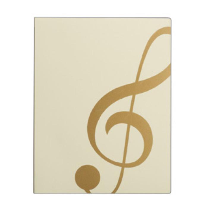 ミュージック レッスンファイル(全6種) ト音記号/アイボリーゴールド