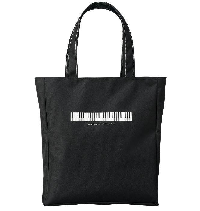 ファスナーレッスンバッグ(全3種) 鍵盤/ブラック