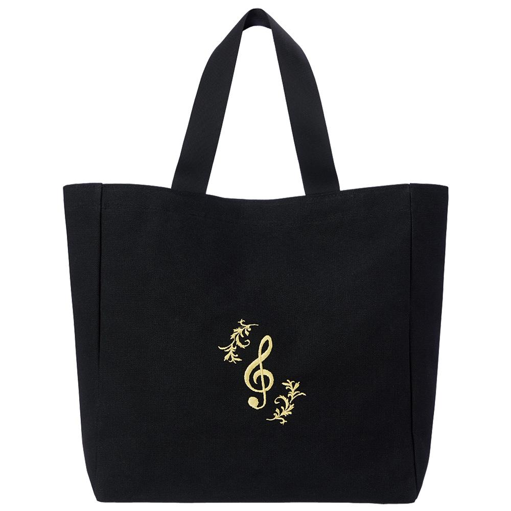 エンブロイダリー(刺繍) レッスンバッグ/G-clef -