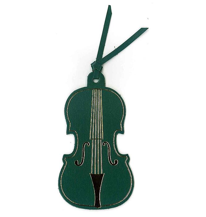 レザーブックマーク(全4種) バイオリン/グリーン