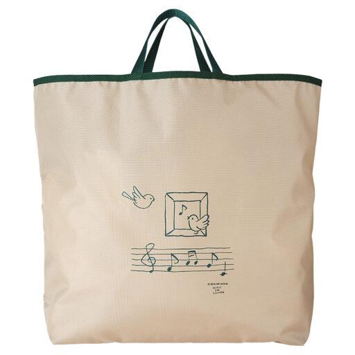 MUSIC STYLE ECO BAG(全2種) 小鳥と音符/ベージュ