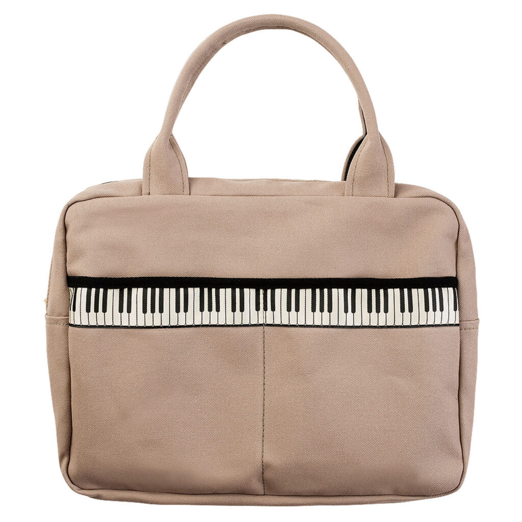 鍵盤リボンレスナーバッグ(全2種) グレージュ