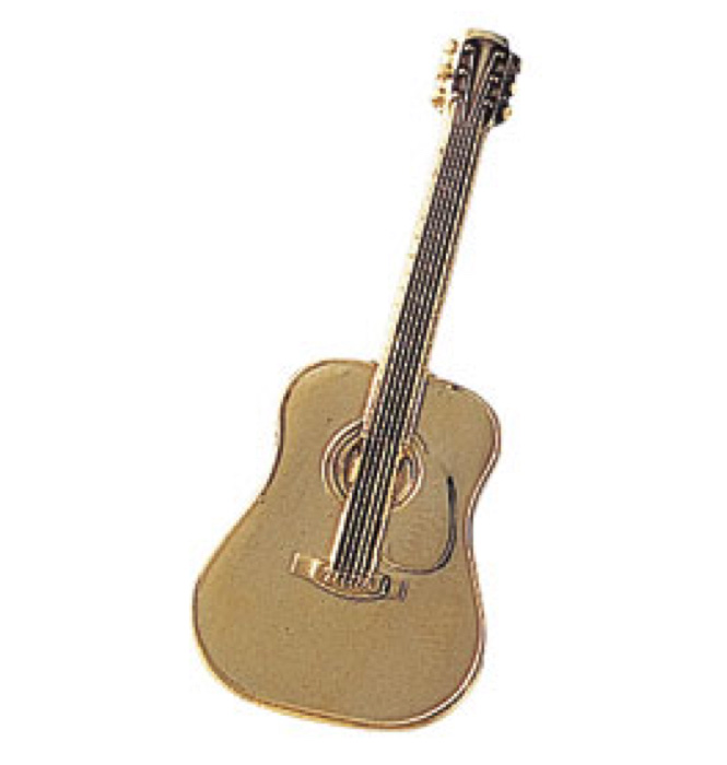 スタンダードブローチ(全50種) フォークギター/ゴールド