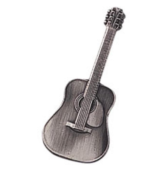 スタンダードブローチ(全50種) フォークギター/シルバー