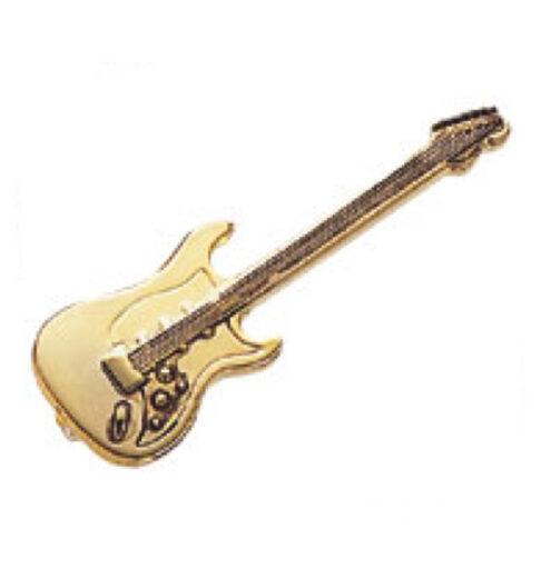 スタンダードブローチ(全50種) エレキギター/ゴールド