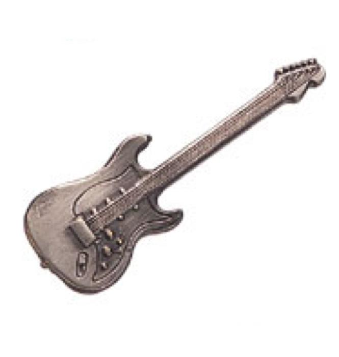 スタンダードブローチ(全50種) エレキギター/シルバー