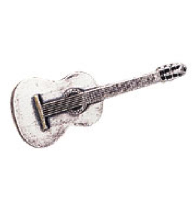 スタンダードブローチ(全50種) クラシックギター/シルバー