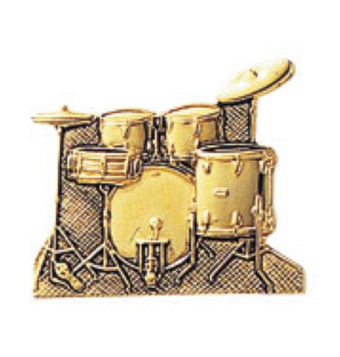 スタンダードブローチ(全50種) ドラムセット/ゴールド