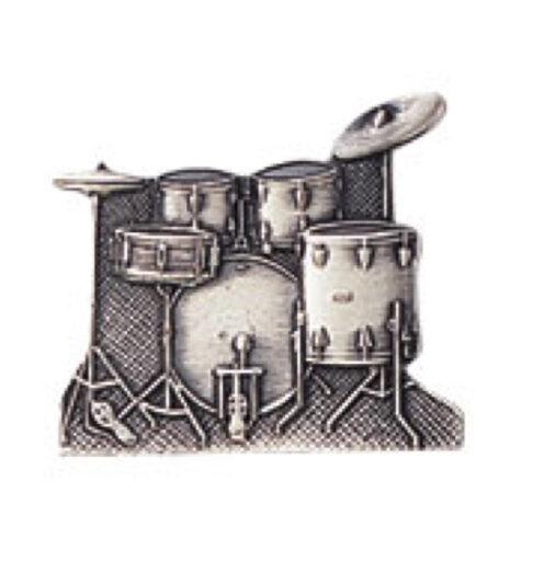 スタンダードブローチ(全50種) ドラムセット/シルバー