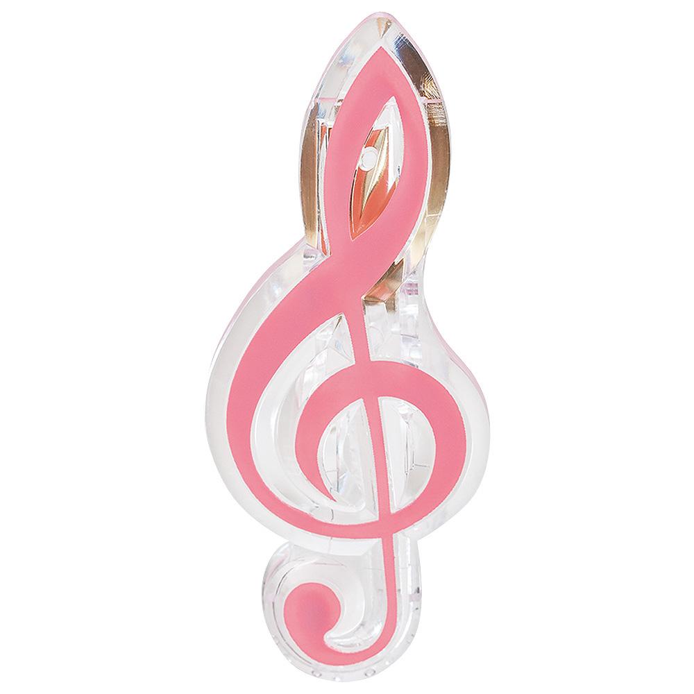 ト音記号クリップ(全5種) ピンク