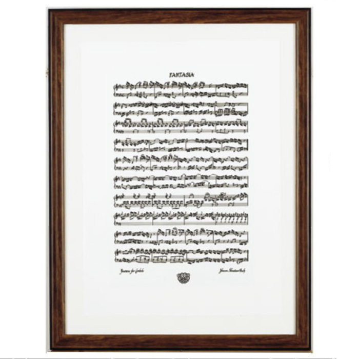 バッハ カリグラフィー シルクスクリーンポスター(全4種) ファンタジア