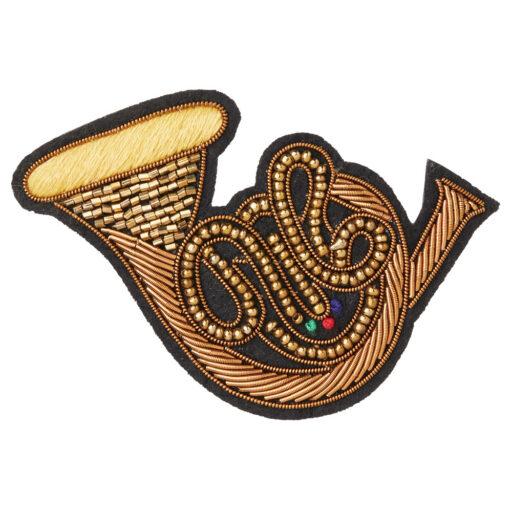 エンブロイダリー(刺繍)ブローチ(全3種) ホルン