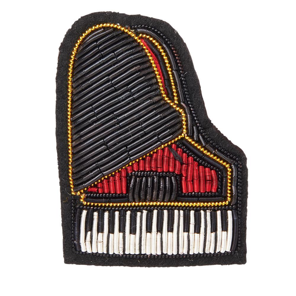 エンブロイダリー(刺繍)ブローチ(全6種) ピアノ