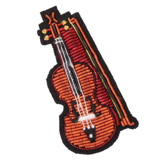 エンブロイダリー(刺繍)ブローチ(全6種) バイオリン