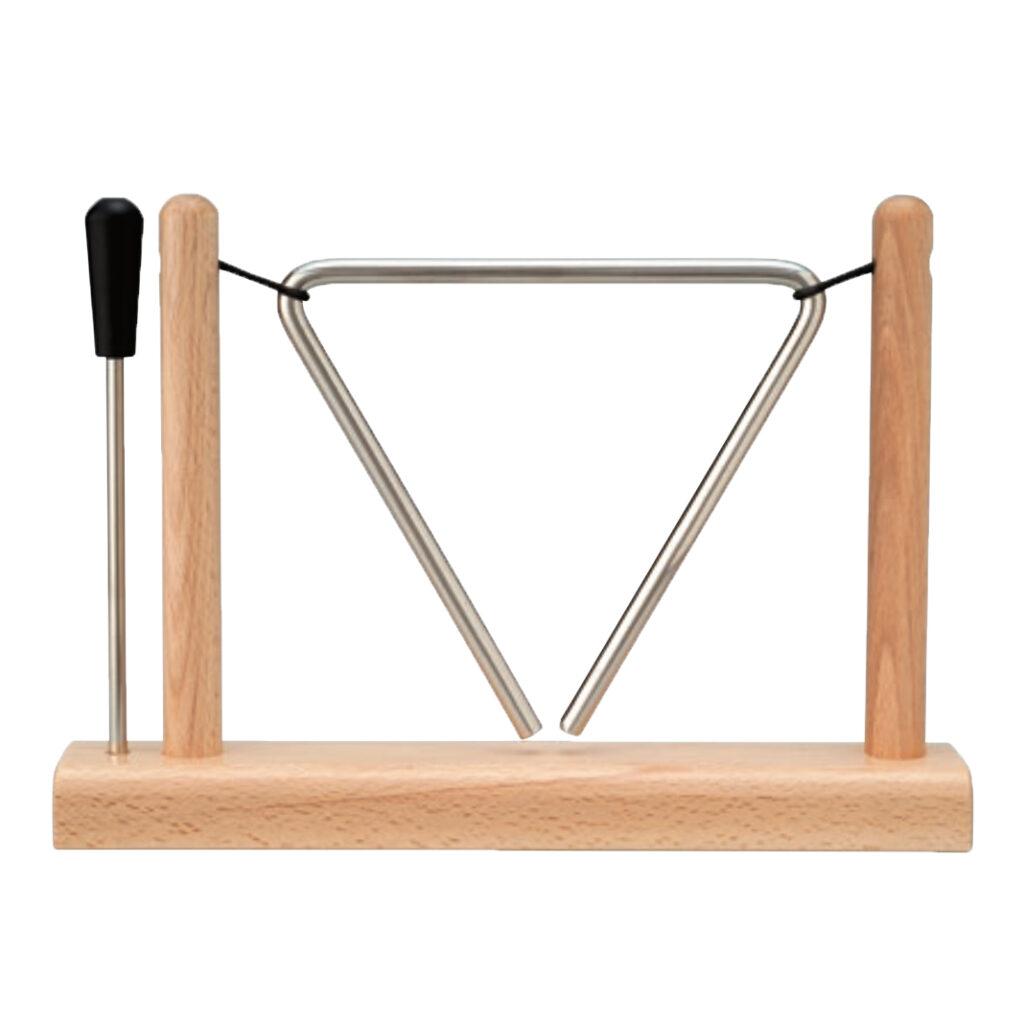トライアングル 木製スタンド付き -