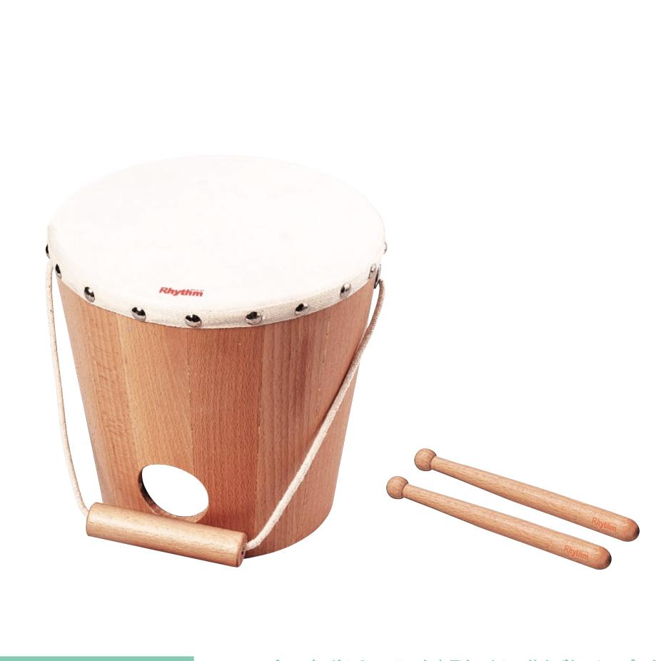 バケットドラム &ベビードラム用 ウッドスティック 2本組み