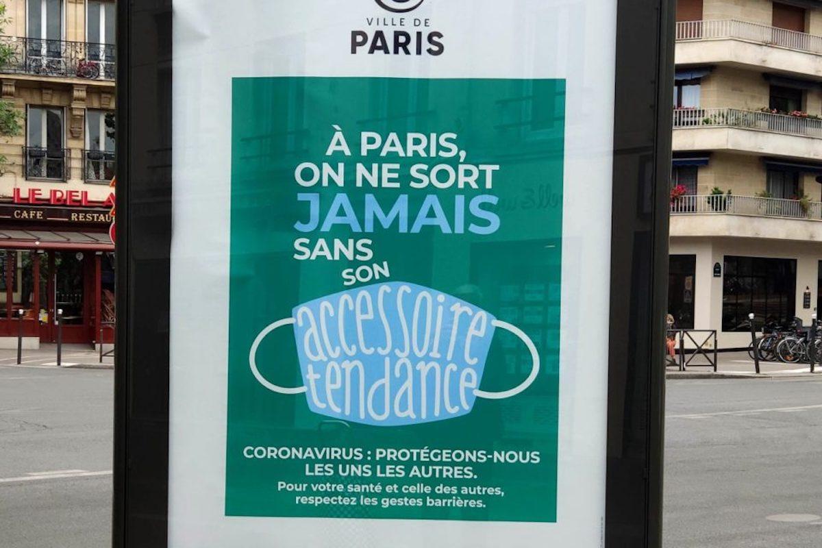 パリのマスク装着キャンペーンのポスター